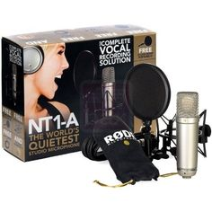 Rode NT1 A Complete Vocal Recording Solution micro de studio