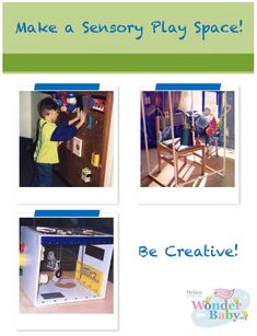 Learn how to make an activity center for children with visual impairments. Using general hardware materials (like cardboard or peg-board) and other household items (like toys or kitchen utensils) you can create a sensory space for your child. We have ideas for big spaces and little spaces!