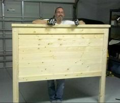 Farmhouse Queen Headboard (Pine)   Do It Yourself Home Projects from Ana White