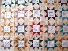 This is the quilt that I started when we got married. It's sorta based on the Sarah Johnson quilt I mentioned a couple of posts ago. Quilting Blogs, Quilting Board, Quilting Ideas, Quilting Projects, Quilt Guest Books, Book Quilt, Wedding Album, Wedding Book, Wedding Ideas