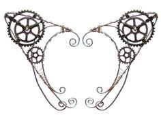 Steampunk Clock Elf Ear Cuff