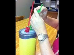 A blind client with very good dexterity enjoys attaching the small rings to the crazy straws. She is a pro! This is a great activity for developing motor planning skills and refining dexterity.