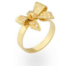 Anel laço com brilhantes . Bow ring w diamonds. I want!!!