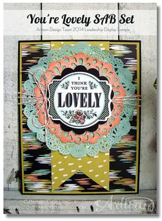 Leadership 15 - You're Lovely Sweet Sorbet Card