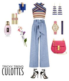 """""""Party #3"""" by atami ❤ liked on Polyvore featuring MSGM, Jimmy Choo, Chloé, Michael Kors, Pippa Small, Yves Saint Laurent, TrickyTrend and culottes"""