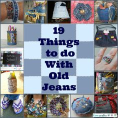 19 Things to Do with Old Jeans | FaveCrafts.com