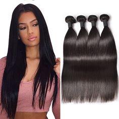 Brazilian Virgin Hair Straight 4Bundles Cheap Brazilian Hair Weave 7A Brazilian Straight Human Hair Bundles Straight Virgin Hair