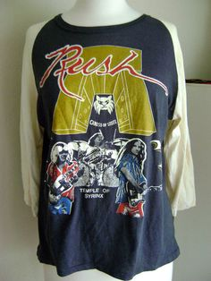 Vintage Rush Concert Tshirt 197576 Caress of Steel by boobooretro, $150.00