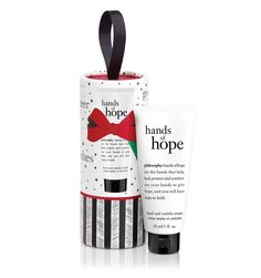 give back to those with helping hands this holiday with the hands of hope hand and cuticle cream ornament.