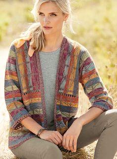 f9a6f237c4 Al Fresco Pima Cotton Cardigan - Art Knits & Collectibles - Sweaters -  Peruvian Connection