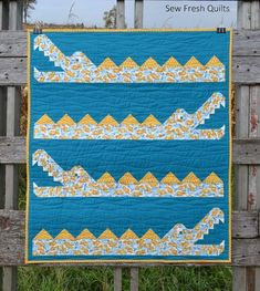 crocodile quilt pattern by Sew Fresh Quilts
