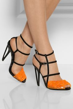 Fendi strappy open toe geometric heel | shoe