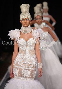 Dubai based Philippines designer Ezra Santos final parade at Couture Fashion Week New York