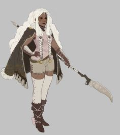 """aureateintoner: """" Here's some art of my NieR OC Garland done by the wonderful… Fantasy Character Design, Character Creation, Character Drawing, Character Design Inspiration, Character Concept, Character Ideas, Black Characters, Dnd Characters, Fantasy Characters"""