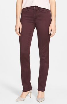 NYDJ+'Samantha'+Colored+Stretch+Slim+Straight+Leg+Jeans+(Regular+&+Petite)+available+at+#Nordstrom