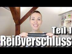 Reißverschluss einnähen # 1: einfacher, nicht-teilbarer Reißverschluss - mit Anna von einfach nähen - YouTube
