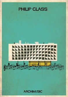 "ARCHIMUSIC: Illustrations Turn Music Into Architecture - Federico Babina / Philip Glass, ""Morning Passages"""