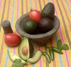 Mexican Food!!!  the ingredients for making guacamole