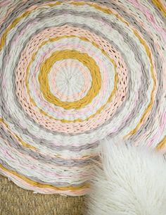 Woven Hula Hoop Rug - Flax & Twine