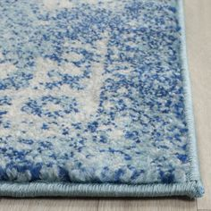 Shop the Rug - Color: Blue, Ivory; Size: Square by Safavieh. This Power Loomed Blue, Ivory rug has a pile_height, perfect for a soft yet durable addition to your home. Transitional Rugs, Rug Material, Blue Ivory, Blue Grey, Rugs Online, Online Home Decor Stores, Beautiful Patterns, Colorful Rugs, Wool Rug