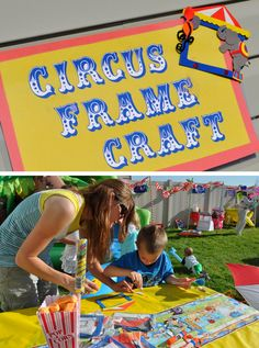 Put a picture of your child at the Circus in this DIY Circus Frame Craft