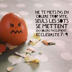 Ne te mets pas en colère trop vite seuls les sots se mettent en colère facilement. Ecclésiaste 7:9 #colère #furieux #angry #Bible #laBible #verset #versetdujour #caractère #chauffard