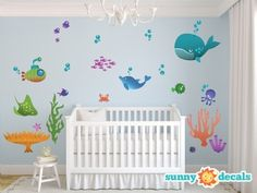 Under The Sea Decals Sunny Nursery Wall Decor