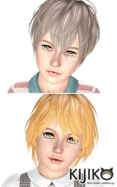Shaggy Hairstyle for kids by Kijiko for Sims 3 - Sims Hairs - http://simshairs.com/shaggy-hairstyle-for-kids-by-kijiko/