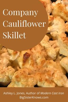 This mayo & Parmesan coated cauliflower is taken up a notch by baking it in a cast-iron skillet. Super yummy with just the right texture, this will be your next favorite side dish! Beef Recipes, Cooking Recipes, Healthy Recipes, Cooking Tips, Easy Recipes, Cavenders Greek Seasoning, Cauliflower Dishes, Cast Iron Recipes, Healty Dinner