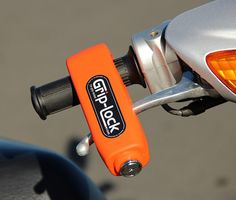 Grip-lock Motorcycle and Scooter Security Lock #hardware #tools #bike #locks #motorcycle #security