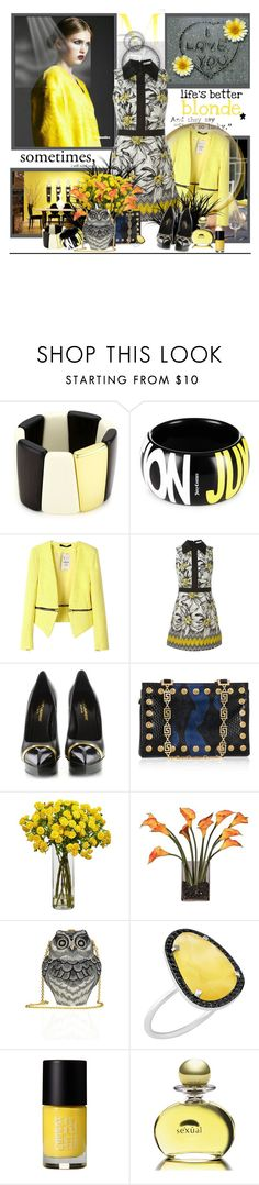 """""""shes' a lucky girl"""" by littlesheri ❤ liked on Polyvore featuring Trina Turk, Juicy Couture, Alice + Olivia, Yves Saint Laurent, Versace, Nearly Natural, Judith Leiber, Christina Debs, Cheeky and Michel Germain"""