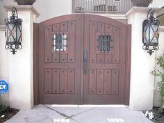 Custom Door & Gate Hardware by PH Door Decor Double Gate, Double Doors, Door Grill, Custom Gates, Gate Hardware, Wrought Iron Doors, Front Gates, Door Gate, Tuscan Style