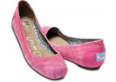 Pink Eliana Suede Ballet Flats   TOMS.co.uk