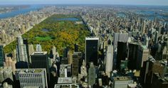 Upper East Side, Central Park, Midtown Manhattan, Skyscraper, Autumn, City View, Megacity, Travel Destination, No People, Sunshine, Day, Stock Footage,