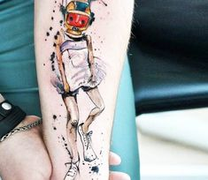 Little Girl tattoo by Aleksandra Katsan