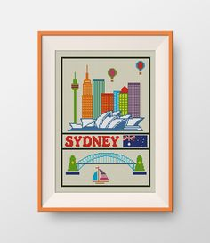 Sydney cross stitch pattern, Instant Download, PDF, Little Sydney, P117 by NataliNeedlework on Etsy
