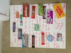 Candy card made for boyfriends birthday!