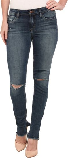 Joe's Jeans Women's Collector's Edition - The Icon Skinny in Kalia Kalia Jeans 25 X 32. Jeans feature a mid rise and a skinny fit from the hip to the ankle-skimming length. Kalia is a medium blue wash that has been given an ozone treatment for a natural indigo fade. 3-D whiskers, hand sanding, and ripped knees and grinding complete the broken-in look. 11 oz stretch denim. Contrast topstitching. Copper-tone hardware. Leather logo patch set at back pocket. Five-pocket design. Belt-loop...