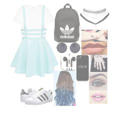 """""""•I've Grown Familiar With Villains That Live In My Head•"""" by cupcake-muke ❤ liked on Polyvore featuring Yves Saint Laurent, adidas Originals, Wet Seal, The Row, PhunkeeTree and Fiebiger"""