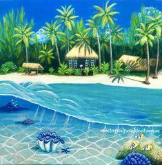 """Blue Heaven Island"" Fine Art Print."