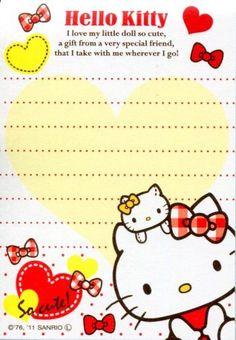 Kawaii memo paper - Sanrio - Hello Kitty