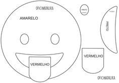 Molde Emotiom língua de fora, pode ser feito em feltro ou e.v.a.