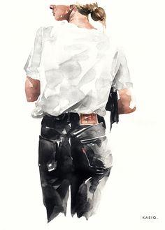 Fashion Illustration   watercolor on paper by ©kasiq kasiq.c…   Flickr Illustration Design Graphique, Illustration Art Drawing, Fashion Illustration Sketches, Art Sketches, Drawing Art, Dress Sketches, Behance Illustration, Drawing Ideas, Design Illustrations
