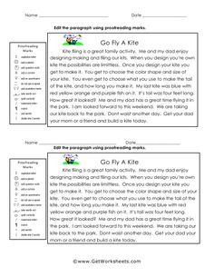 Proofreading worksheets for fourth grade