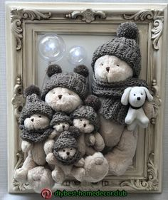 New baby diy room teddy bears ideas Kids Crafts, Craft Projects, Diy And Crafts, Easy Home Decor, Kids Decor, Teddy Bear Crafts, Bear Decor, Frame Crafts, Baby Room Decor