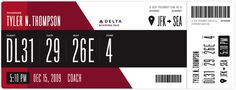 • Tyler Thompson: Redesigning The Boarding Pass