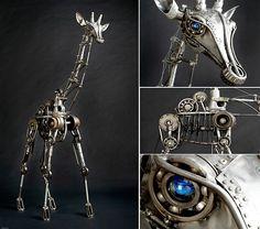 Animale hechos con material reciclado, increíble estas esculturas.