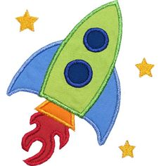 Rocket Applique Design