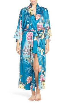 Natori 'Serene' Print Charmeuse Robe available at #Nordstrom