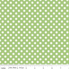 Riley Blake Designs - Dots - Small Dots in Green